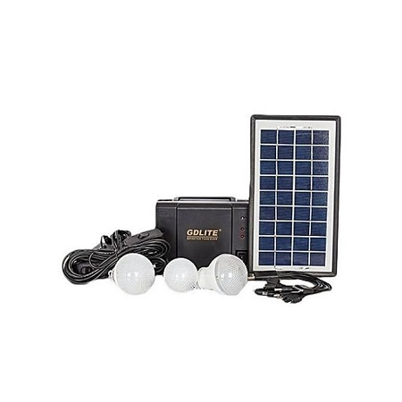 Gdl GD 8006 A - Solar Panel, LED lights and phone charging Kit
