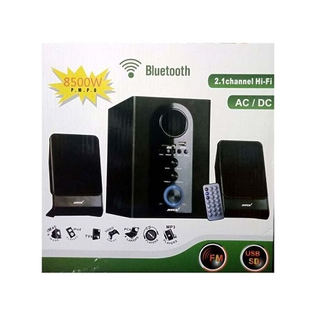 Ampex 2.1 CH Woofer 8500W PMPO BT/USB/SD/FM
