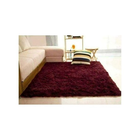 Fluffy Carpet - 5x8 - Maroon