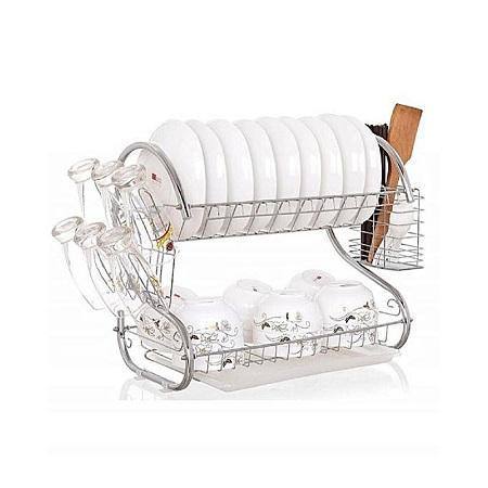 Dish Rack Kitchen Utensils/ Organizer-Silver