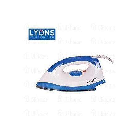 Lyons Dry Iron - White & Blue