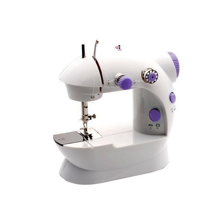 Mini Portable Electric Sewing Machine with Low/High Speed, Double Thread, Foot Pedal, Perfect for Household and Beginner