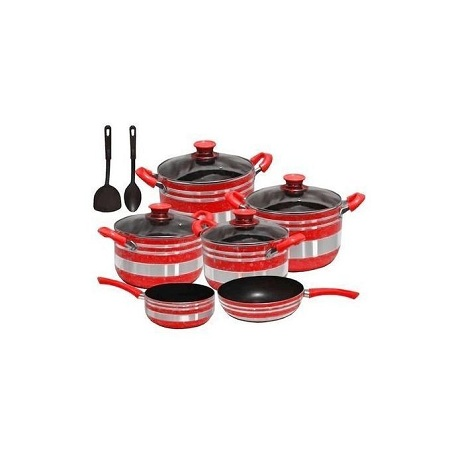 Yi Tong Non Stick Cooking Sufuria Set - Red