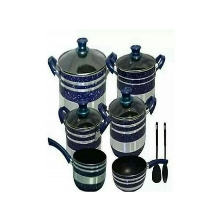 Yi Tong Non Stick Cooking Sufuria Set - Blue