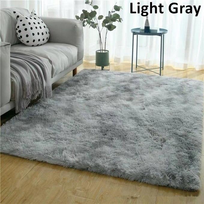 Grey-Plush Fluffy Carpet 5*8