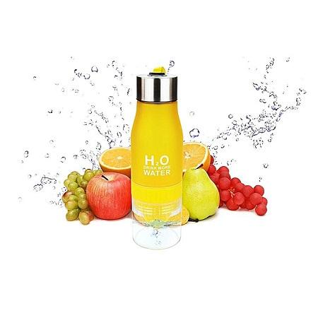 Lemon Cup Bottle H2O Drink More Water Drinking Bike Bottle