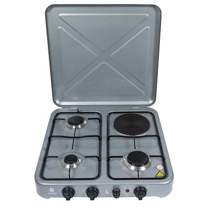 Nunix 3 Gas + 1 Electric Hot Plate Table Top Cooker Burner Stove