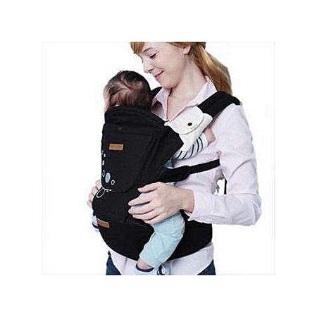 Imama Comfortable Hipseat Baby Carrier - Black (upto 18kgs)