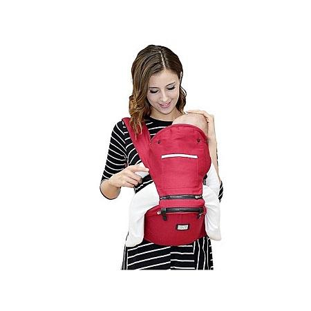 Multifunction Outdoor Kangaroo Baby Sling Carrier Ergonomics Lightweight Hipseat With Lumbar Support - Red