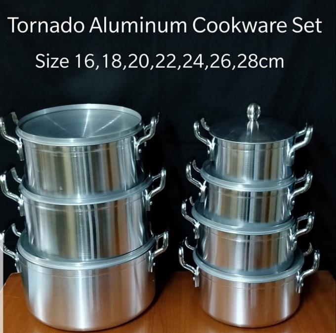World Tornado Stainless Alluminium Cookware Pot Sufuria Set