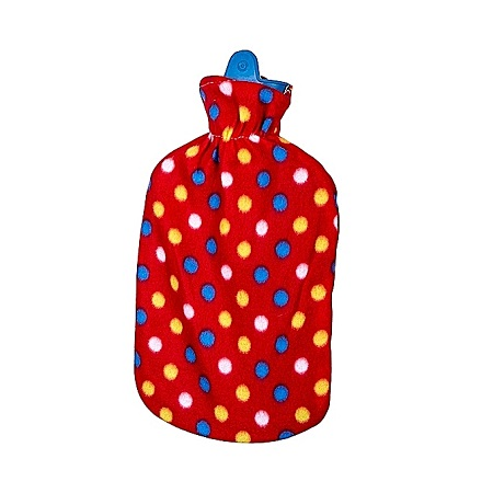 Hot Water Bottle with a Bag-red