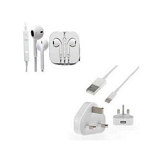 Charger FOR IPhone 5/6 /IPad/Ipod With Earphones