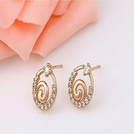 CarJay Jewels Gold Coated Earring with Studs L
