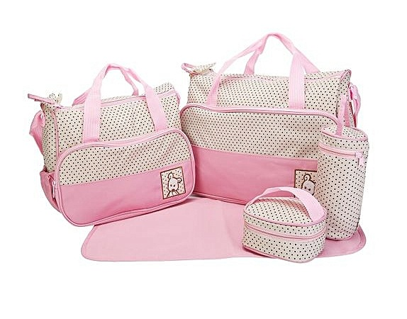 5 Pcs Baby Changing Diaper Nappy Bag Mummy Mother Handbag Multi functional Set