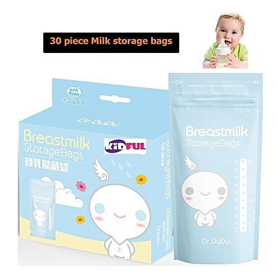 Clean Breast Milk Storage Bags, No breaks, No leaks, Pre-sterilized Ready To use- 30 Count