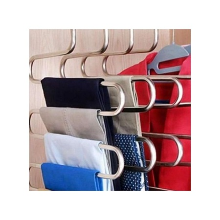 S Type 5-layer Stainless Steel Trouser Hanger