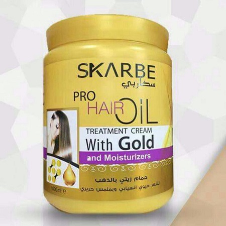 Skarbe  Pro Hair Oil Treatment Cream with Gold and Moisturizes