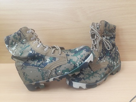 Men Ankle Boots Camouflage Shoes