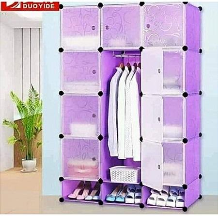 3 Column DIY Cabinet Wardrobe