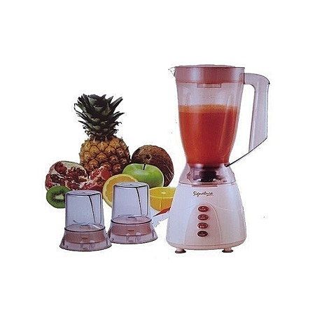 Signature 3 in 1 Blender with Grinder and Chopper - 1.5 Litres - Classic Cream