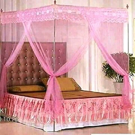 Classic 4 Post Mosquito Net- Pink