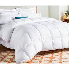 Plain White Quilt Duvet Set