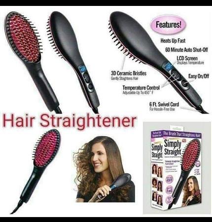 Professional Ceramic LCD Display  Hair Brush Straightener