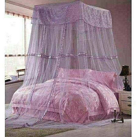 Square Top Decker mosquito net- Free Size- Purple