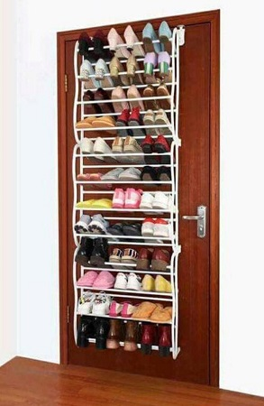 Over the Door Shoe Rack 36 Pairs- White