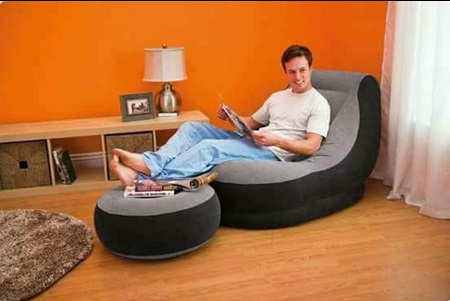 Intex Soft Inflatable Seat with Pump