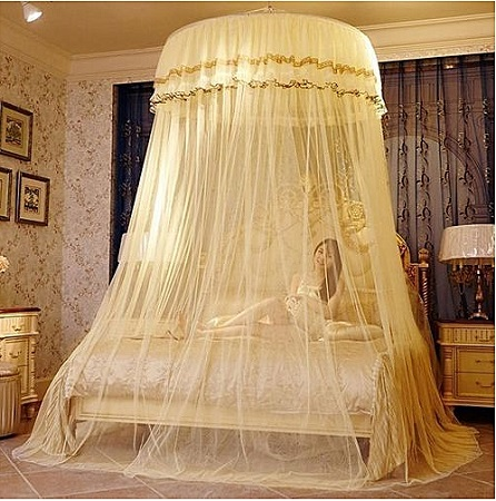 Free Size Round Mosquito Net- Cream