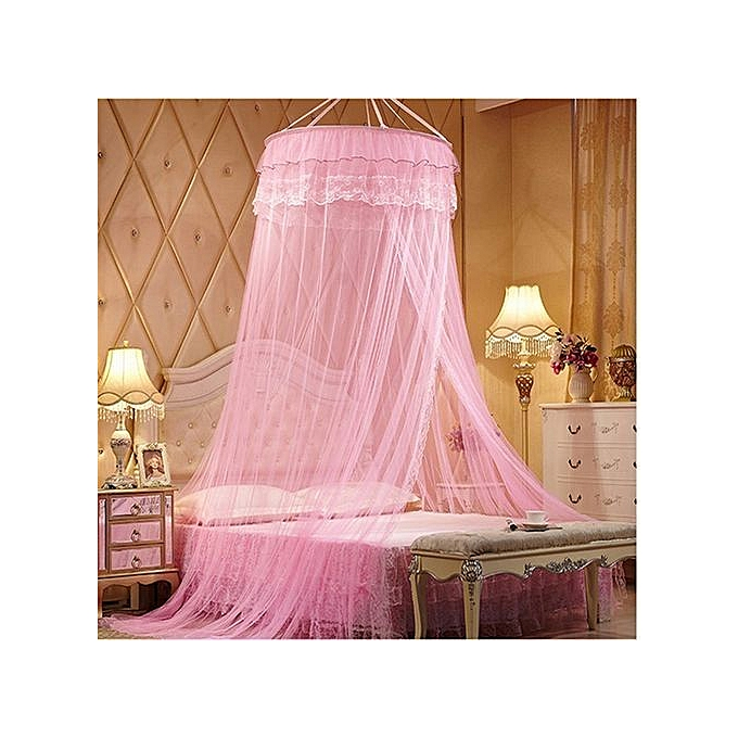 Free Size Round Mosquito Net- Pink