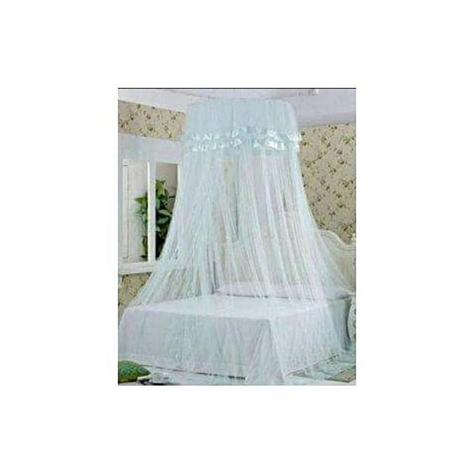 Free Size Round Mosquito Net- White