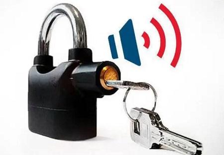 Anti-Theft Alarm Padlock Black
