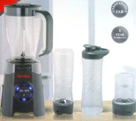 Signature Blender 4 in 1 with grinder and smoothy bottle
