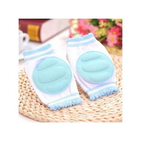 Baby Safety Crawling Elbow Cushion Toddlers Knee Pads Protective Gear BU -Blue