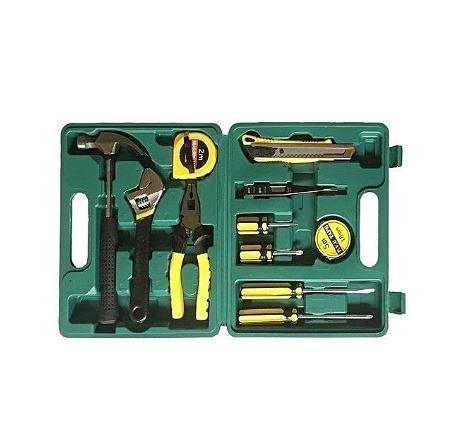12 Pieces Portable Multifunctional Toolbox - Green
