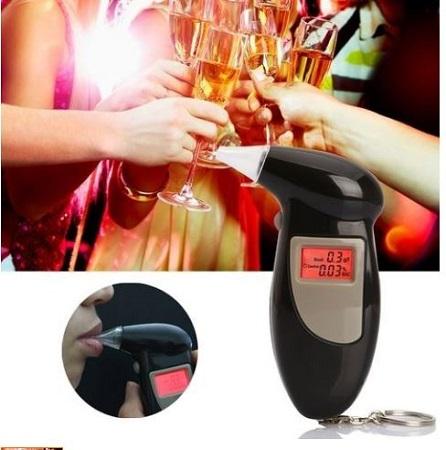 LCD Digital Alcohol Tester Breathalyzer- Black