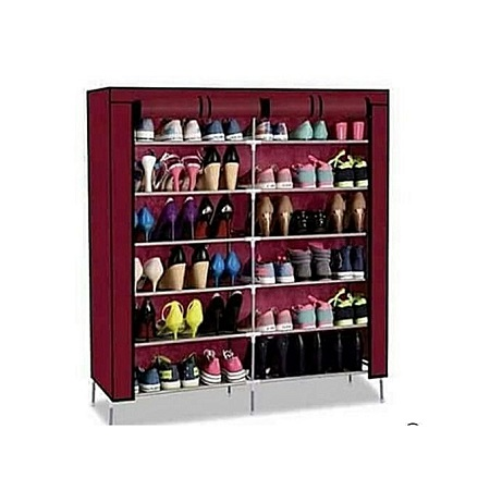 36 pair Portable Shoerack Winered