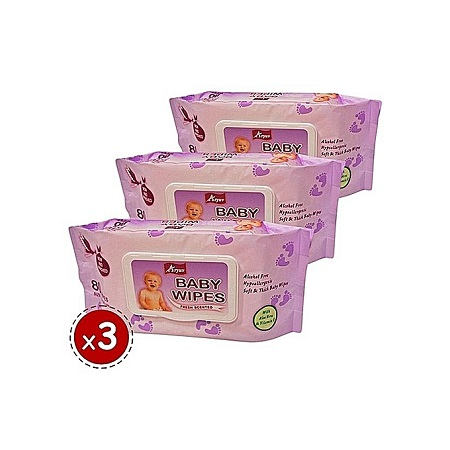 ARYUV Baby Wipes 80PCS Value 3 Packs