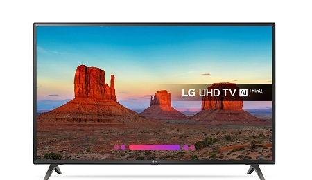 LG 49UK6300 49inch Smart UHD 4K LED TV - Black