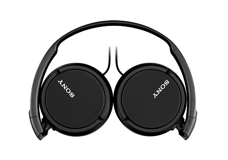 Sony MDRZX110AP ZX Series Extra Bass Headphones with Mic- Black