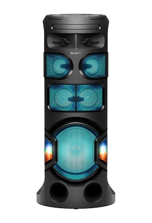 Sony MHC-V81D High Power Portable Party Music System with 360 Degree Sound and Light (Black)