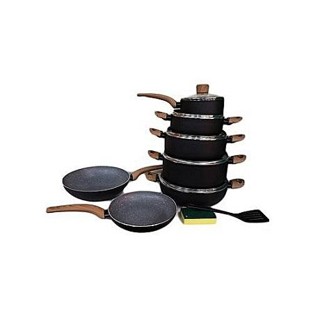 Non-Stick Cooking Pots Set - 12 Pieces