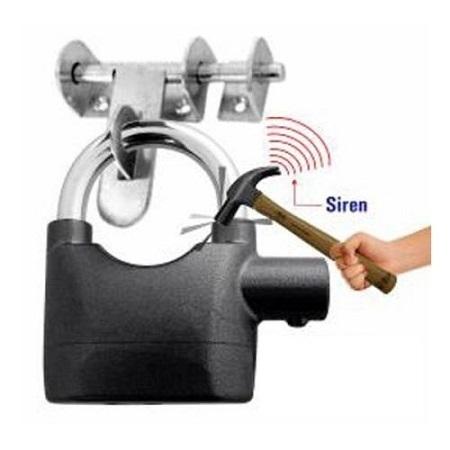 Alarm heavy duty padlocks silver one size