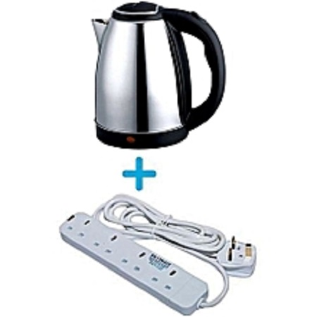 Electric kettle plus 4 way extensio cable