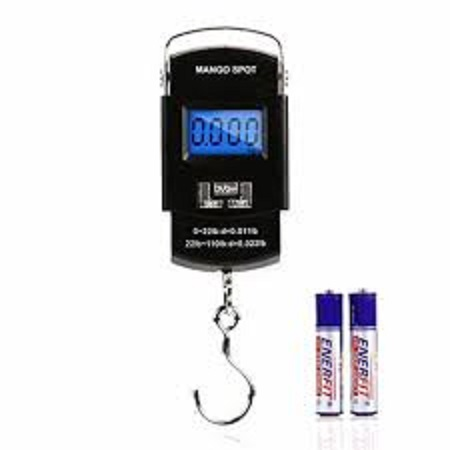 Electronic Digital Scale LCD Weighing Scale 50kg Kitchen Portable Hanging Balance