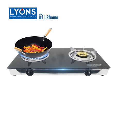 Lyons Glass Gas Double Burner GS003