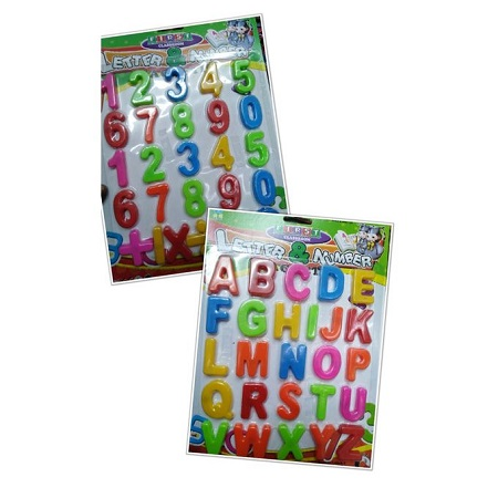 Multipurpose Kids Colourful Magnetic Numbers & Alphabet Learning Set Multicolour Numbers & Letters