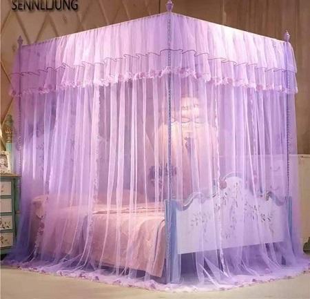 4 Stand Mosquito Net- Purple